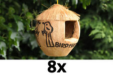 8x bird feeder coconut bird feeder wild bird food feeders