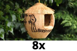 8x bird feeder coconut bird feeder wild bird food feeders