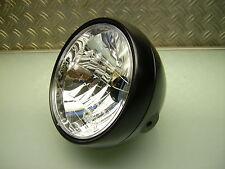 CAFE racer phares noir mat old school Head Light Lamp Brat style sr 500