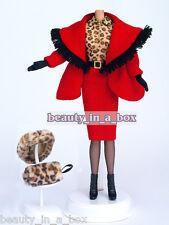 "Chic Winter Leopard ""Fur"" Coat Ensemble Fashion for Barbie Doll"