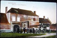 BELGIUM~1900's WATERLOO Entree de la ferme d'Hougoumont ~ HOTEL VICTORIA TAXI