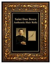 Catholic SAINT DON John BOSCO Hair RELIC Reliquary Lock Charity Personal Framed
