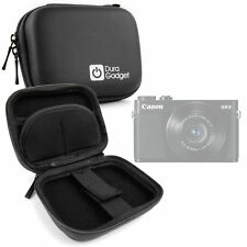 Black Hard Case for Canon PowerShot G9 X - with Carabiner Clip w/ Wrist Strap