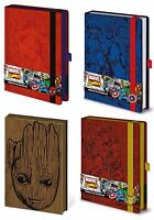 Official Marvel Premium A5 Notebook Plain Avengers Guardians of the Galaxy UK