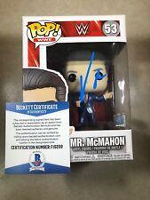 WWE VINCE MCMAHON  Signed Funko Pop Vinyl Figure Beckett BAS F19299