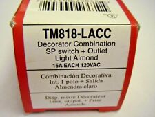 Pass Seymour TM818-LACC Decorator Combination SP Switch + Outlet 15A x 120VAC