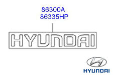 Genuine Hyundai iX35 Rear Hyundai Badge - 86335H1020