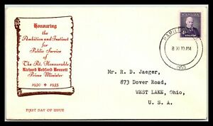 GP GOLDPATH: CANADA COVER 1955 FIRST DAY OF ISSUE _CV738_P02
