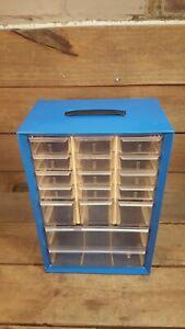 Vintage Akro-Mils 17 Drawer Storage Cabinet
