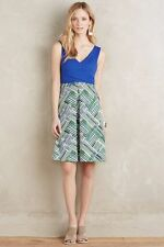 NWT Anthropologie Ardmore Dress Sz 14 Navy Green by HD in Paris L Size Large