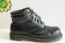 Vintage Dr. Martens Men's Industrial ST Boots Black Leather US Size 11. (UK 10)