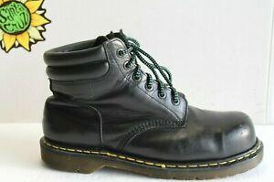 Vintage Dr. Martens Men's Industrial ST Boots Black Leather US Size 11. (UK 10)