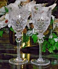 "Rogaska Crystal GALLIA  Wine Glasses Set of 2 7 3/4"" Barware Yugoslavia"