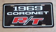1969 Dodge Coronet R/T license plate car tag 69 440 500 383 426 road & track
