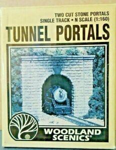 Woodland Scenics N Scale Cut Stone Single Track Tunnel Portals C1153