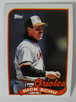 1989 Topps Rick Schu Baltimore Orioles Wrong Back Error Baseball Card