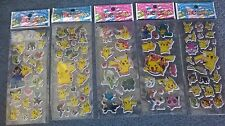 Pokemon sticker sheets buy 5 get 5 free stickers party boys stickers NEW