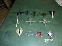 DIECAST LOT OF 12 WAR PLANES GREENBRIER JETS, SPACESHIP, BOMBERS, CHOPPERS