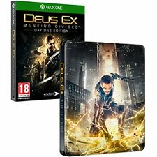 Deus Ex Mankind Divided Day One Edition Steelbook (Xbox One) NEW SEALED STEEL
