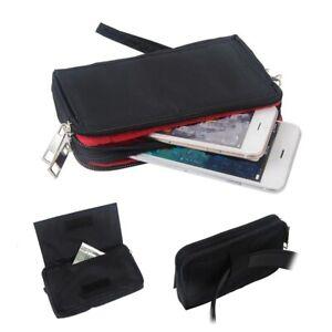 for General Mobile Discovery Quadro 4  Multipurpose Horizontal Belt Case Nylon