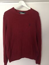 RALPH LAUREN Deep Red cree neck sweater. Size S