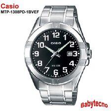 OROLOGIO Casio MTP-1308PD-1BVEF Uomo cinturino ACCIAIO INOX IMPERMEABILE 5 bar