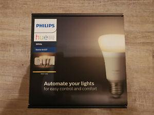 Philips Hue White E27 Starter Set: 3 Lampen inkl. Bridge und Dimmschalter