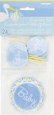 Boy Stork Cupcake Holder & Topper 48PK Party Supplies Baby Shower Blue Case