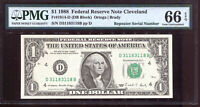 1988 $1 Federal Reserve Note Fancy REPEATER Serial #D31183118B PMG 66EPQ