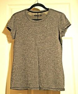 rag & bone / JEAN Gray knit Tee Shirt Stretch Sheer Rayon blend size S