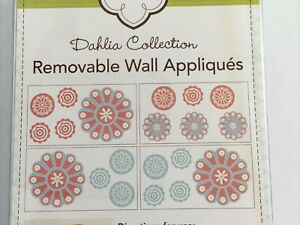 Cocalo Dahlia Collection Floral Removable Wall Appliques Stickers Decor Decals