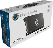 Planet Audio AC26002 2600 Watt Anarchy 2-Channel MOSFET  Car Amplifier AC2600.2