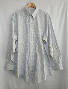 Brooks Brothers Men's Long Sleeve Button Up Shirt Size 18 - 35 VGC
