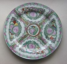 Rose Medallion China DINNER PLATE - FGC handpaint flowers butterfly chop 10.25in