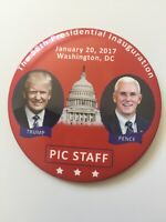 "2017 President Donald Trump Inauguration Day 3"" Button PIC STAFF Pin"