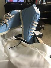 Gucci 391499 A9LF0 4503 Women Sneakers Blue G 40+ US 10.5
