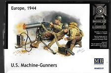 Master Box WWII US Machine Gunners (2) w/Browning M1917A1 MG in 1/35 3519 ST