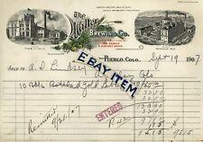 1907 Pueblo Colorado WALTER BREWING COMPANY beer JOHN HRUBESKY Stephens Litho MO
