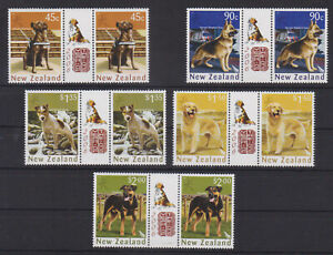 NEW ZEALAND - 2006 YEAR OF THE DOG / PET ANIMALS - 5V GUTTER PAIR - MNH