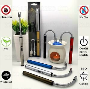CANDLE LIGHTER BBQ KITCHEN FLEXIBLE LONG ELECTRIC/ARC Rechargeable USB Flameless