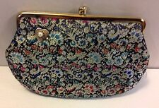 Lovely Brand Vintage Floral Clutch Purse Ornate Paisley Formal Original Box