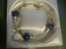 Lapis Lazuli Stone Tibetan Silver Costume Bracelets