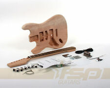 Left Handed Solid Body DIY Electric Guitar Kit with Mahogany Unfinished New