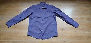Mens  Casa Moda Casual Fit Patterned Shirt Size L 41/42