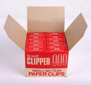 Scovill Clipper Small No-Tear Paperclips 22mm Box 10x100