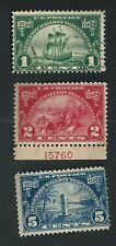 Scott #614 Used, #615 Mint, #616 Mh, 1924 Huguenot-Walloon