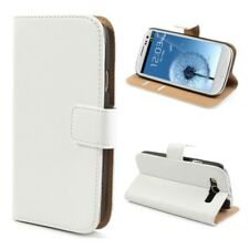 Samsung Galaxy s3 neo cartera case genuine split Echt Leder imán funda blanco