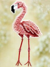Flamingo Beaded Cross Stitch Kit Mill Hill 2010 Spring Bouquet