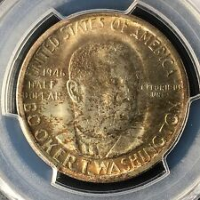1946-S 50C Booker T. Washington Commemorative Half PCGS MS66       83491097