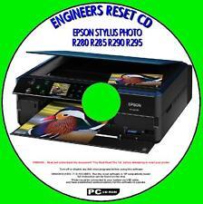 Epson stylus R280 R285 R290 R295 imprimante déchets d'encre Pad reset utilitaire nouveau cd